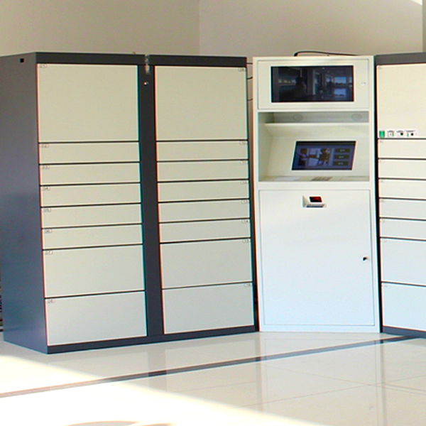 QTrak package delivery lockers