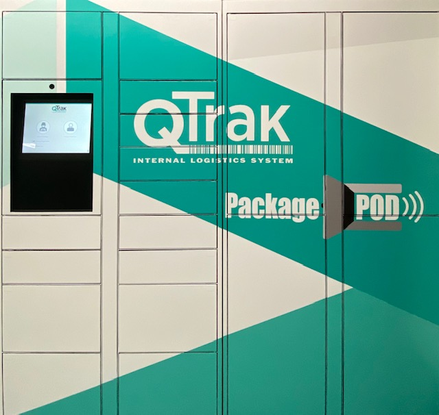 QTrak Package Pods digital delivery lockers